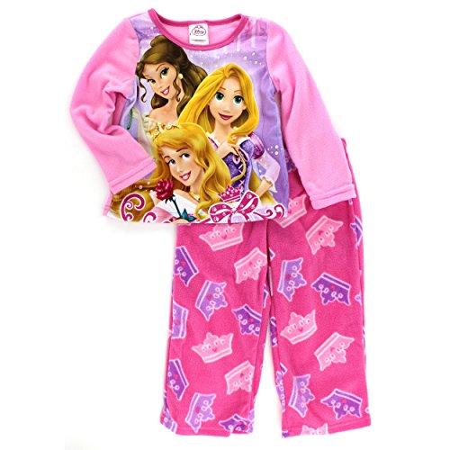 Price comparison product image Disney Princess Girls Pink Fleece Pajamas (8)