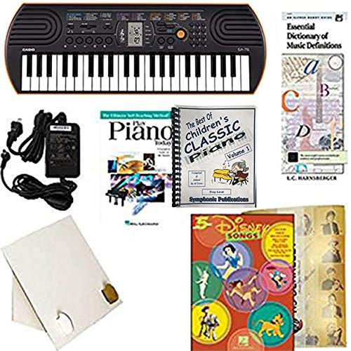 Homeschool Music - Piano Pack (Disney Songs) - W/Casio SA76 Keyboard, Adapter, learn 2 Play DVD/Book, The Best of Children's Classic Piano Vol. 1 & All Learning Essentials by Homeschool Music