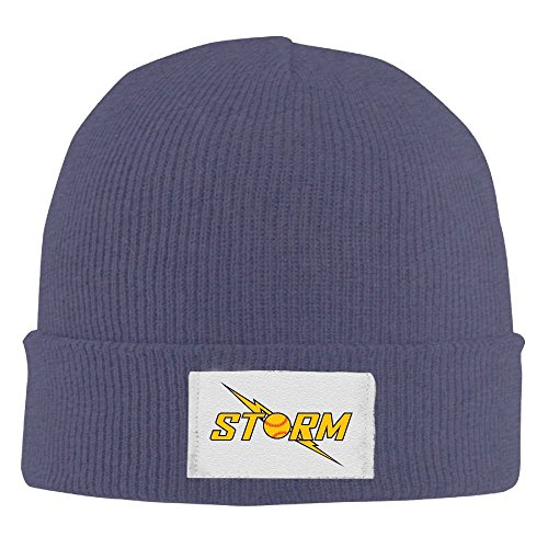 AMY WILDER Storm Softball Cap Winter Knitting Warm Watch Hat Beanie Skull Cap For Unisex Navy One Size Fit All