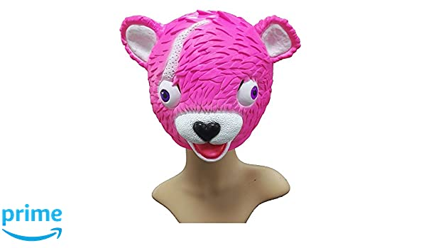 SDT Máscara Halloween Fortnite Cuddle Team Leader Máscara para Niños Chicas Chicos Casco Mask de Cabeza Completa Máscara Rosa Pink Full Head Accesorio de ...