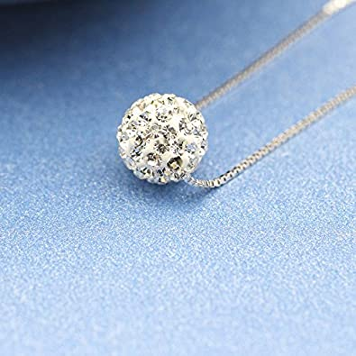 Ficccy 18k Rose Gold Plated Ball Double Chain Necklace Simple Zirconia Double Charm Ball Necklace