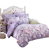 Mingjie Wonderful Purple Flowers Bedding Sets 4PCS for Girls Twin Full Queen King Size from China , queen