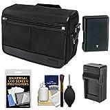 Nikon DSLR Camera/Tablet Messenger Shoulder Bag with EN-EL14 Battery & Charger + Kit for Df, D3300, D3400, D5300, D5500, D5600