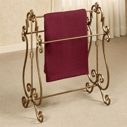 Touch of Class Esmeralda Blanket Rack Antique Gold