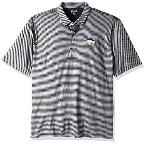 Georgia Southern Eagles Golf - NCAA Georgia Southern Eagles Adult Men Calhoun 2-Tone Stripe Ottoman Polo, Medium, Classic Navy