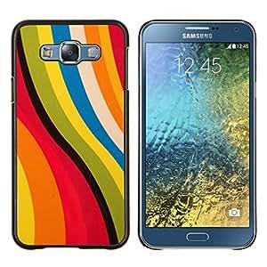 LECELL--Funda protectora / Cubierta / Piel For Samsung Galaxy E7 E700 -- Rosa abstracto amarillo colores en colores pastel --