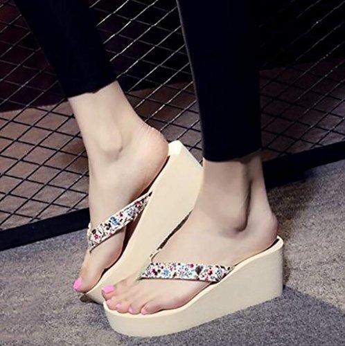 Caleçon à de en avec Plage Pantoufles FAFZ Sauvages Hauts C Tongs Plates Femmes Chaussures Chaussons pour nbsp; Mode C Talons Taille Pantoufles Couleur de Mode Sandales Sandales 42 tCwA70qx
