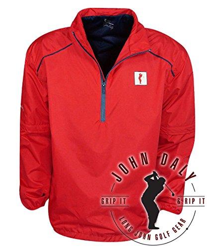 John Daly Golf- Waterproof 1/4 Zip 2-In-1 Pullover