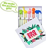 Zoo Stix Training Chopstick Utensil Set for Beginners Kids Teens and Adults – Learn How to Use Chopsticks with Cute 5 Pair Reusable Practice Helpers – Fine Motor Skill Development -Unique Gift