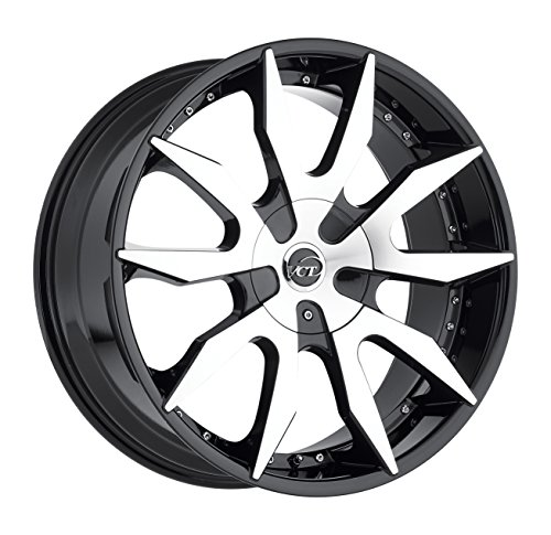 114.3 Replica Wheel (VCT Wheels V54 Black/Machined 20x9 6x135 6x139.7 30mm Offset Wheel Rim)
