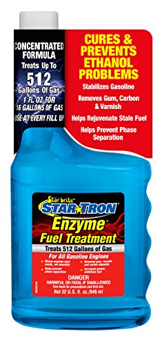 Star Tron Enzyme Fuel Treatment - Concentrated Formula 32 oz - Treats 512 Gallons (Star Performance Engine)