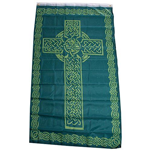 Irish Celtic Cross Polyester 3x5 Foot Flag Ireland St Patric