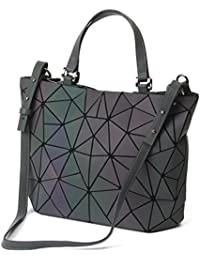 Geometric Luminous Purses and Handbags Shard Lattice Eco-friendly Leather Rainbow Holographic Purse