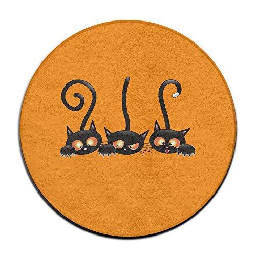 Nick Thoreaufhed Door Mat Non Slip, Outdoor Door Mat, Kitchen Bathroom Floor Carpet Mat, Fashion Scary Three Halloween Witch Black Cats Doormat Welcome Mat