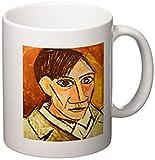 3dRose Self Portrait by Picasso Ceramic Mug, 11-Ounce