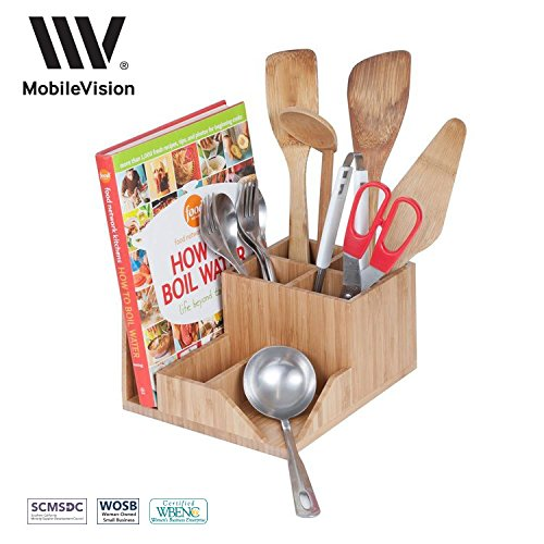MobileVision Organizer Compartments Cookbooks Silverware
