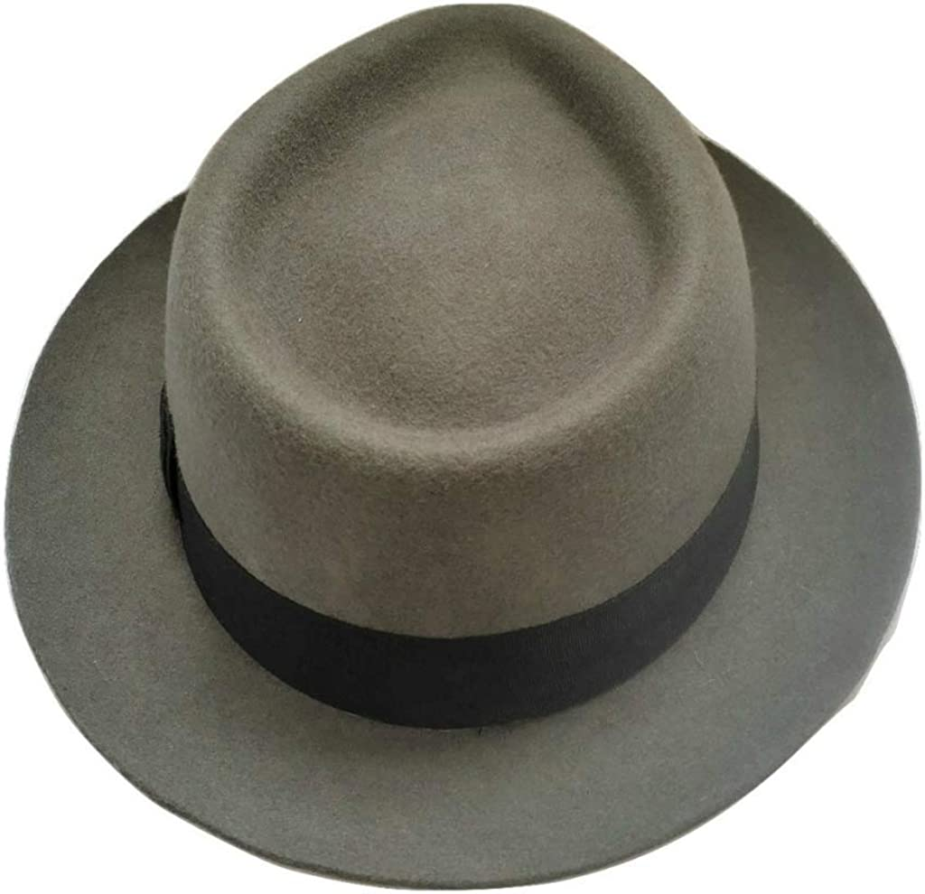 Wool Felt Grosgrain Ribbon Band Lined Cotswold Country Hats Trilby Hat New York Black or Grey Mens
