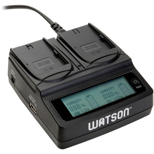 Watson Duo LCD Charger with 2 LP-E6 Battery Plates - Accepts Canon LP-E6 Type Battery by Unknown