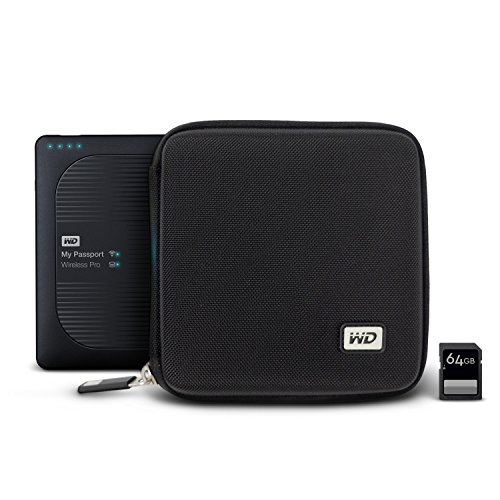 WD My Passport Wireless Pro Hard Case with SD Card Slots (WDBNAR0000NBK-WASN)