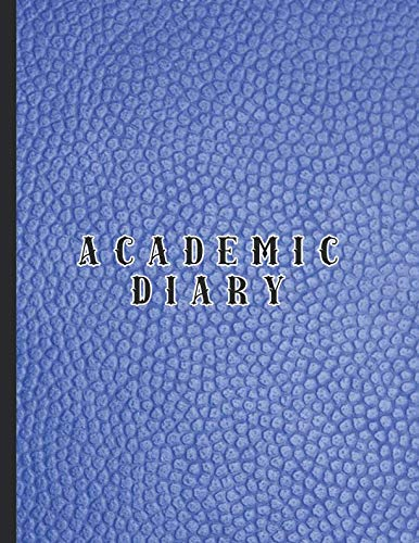 Academic diary: Large page per day academic organizer planner for all your educational organisation - Blue leather effect cover - Croc Desktop