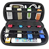 Agile-Shop Multifunction Big Capability USB Flash Hard Drives Case Bag for U Disk USB Drive SD Memory Card with Credit Card Slot Holder, Blue