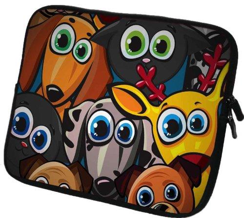 6 Zoll Tolino Vision 3 HD / Shine 2 HD eBook-Reader Schutzhülle - sehr hochwertige & edel verarbeitete eReader Tasche aus wasserfesten Neopren mit eingenähter Doppelnaht, premium Reißverschluss und aufwendigen Designeraufdruck! Die Hülle eignet sich für eBook diverser Hersteller bis 165x120mm ( zirka 5,8