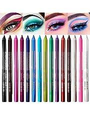 15 Färg Eyeliner Penna Set Färg Ögonskuggor Penna, PARAMISS Neon Eyeliner Matte Glitter Eyeliner Kit färgglada Eyeliner Women Eye Liner Professional Set för ögonmakeup