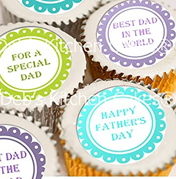Decoración Para Cupcakes Del Día Del Padre Con Mensaje En