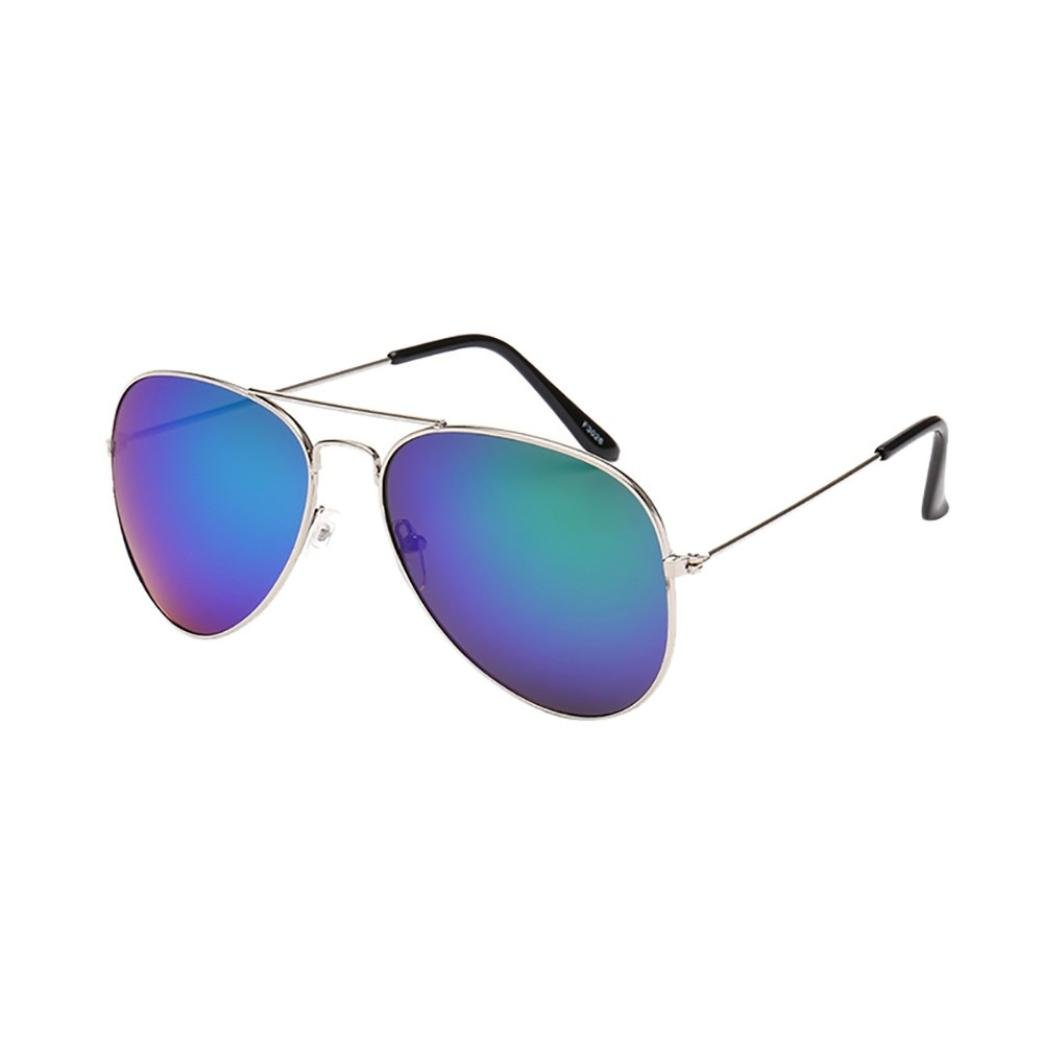 XILALU Women Men Reflection Aviator Sunglasses, Metal Frame Mirror Lens Twin-Beams Fashion Unisex Eyewear by XILALU (Image #1)