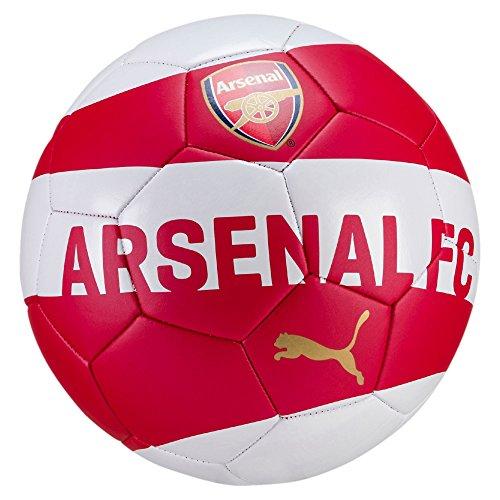 Arsenal Replica Ball Soccer - English Premiership Arsenal Fan Ball, Chili Pepper-Puma White-Bistre, 5