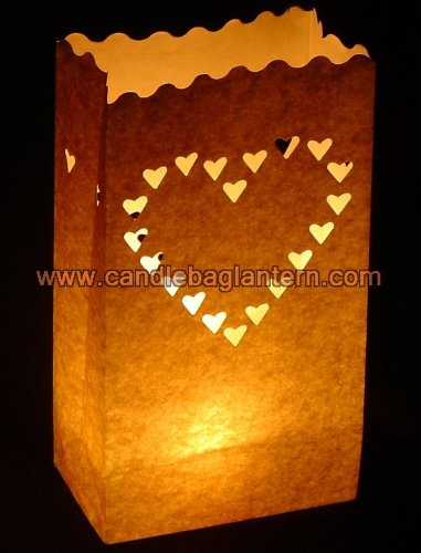 10 x de papel para velas, diseño de corazón, color blanco ...