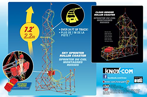 K'NEX Thrill Rides – Sky Sprinter Roller Coaster Building Set – 797 Pieces – Ages 9+ Construction Educational Toy