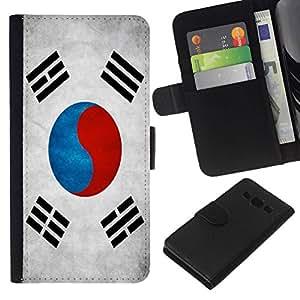All Phone Most Case / Oferta Especial Cáscara Funda de cuero Monedero Cubierta de proteccion Caso / Wallet Case for Samsung Galaxy A3 // National Flag Nation Country South Korea