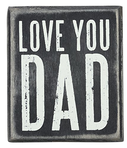 Day Wall Plaque (Primitives by Kathy Box Sign, Love You Dad, 3.5 by 3-Inch)