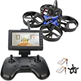 DLFPV Mini FPV RC Drone Equipped with HD 600TVL Camera Transmitter 4.3inch 5.8G 40CH LCD Monitor Receiver and 2.4Ghz 8CH Remote Controller 6-Axis Gyroscope RTF RC Drone Quadcopter