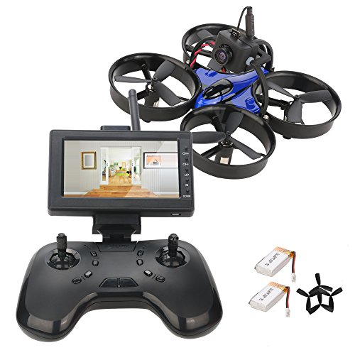 DLFPV Mini FPV RC Drone Equipped with HD 600TVL Camera Transmitter 4.3inch 5.8G 40CH LCD Monitor Receiver and 2.4Ghz 8CH Remote Controller 6-Axis Gyroscope RTF RC Drone Quadcopter by DLFPV