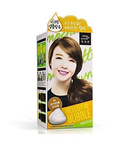 Amore Pacific Mise En Scene Hello Bubble Foam Color No Damaged Hair Self Hair Dye (2015 New Girls Day Version) ((7N) Mocha Latte)