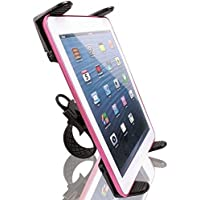 Bike Mount, Treadmill Mount, Exercise Bike Cradle Mount Holder for Kindle Fire HD 7 / 8.9 / 10 Inch w/ Anti-Vibration ZipGrip Mechanism (use with or without case)