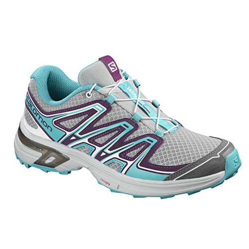 Salomon Wings Flyte 2 Women's Zapatilla De Correr para Tierra - AW18 Gris (Quarry/Dark Purple/Bluebird)