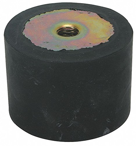 Vibration Isolator, 165 Lb Max, 3/8-16 pack of 5