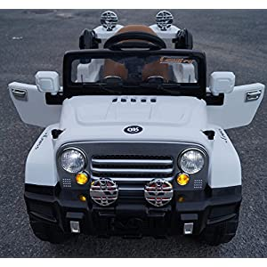 Amazing-Kids-12v-Style-Wrangler-Jeep-Battery-Operated-Ride-on-Car-with-Remote-ControlOpening-doorsLeather-seatFunctioning-LightsMp3White