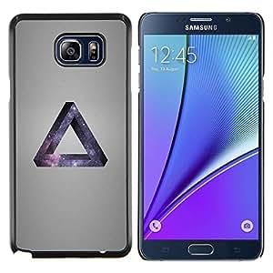 LECELL--Funda protectora / Cubierta / Piel For Samsung Galaxy Note 5 5th N9200 -- Galaxia Triángulo --