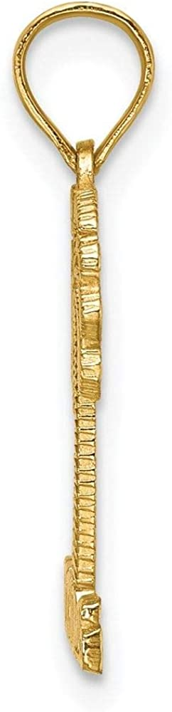 Thomas Under Palm Tree Charm Pendant 14K Yellow Gold St