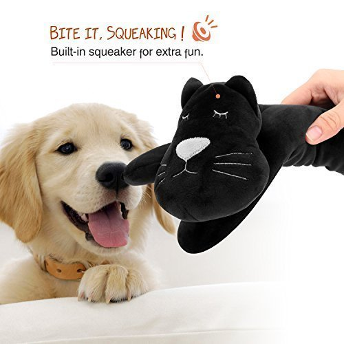 PAWABOO Stuffed Animal Toy, Kitty Pillow Stuffed Toy for Kids , Dog Squeak Toy with Non-toxic Squeaker