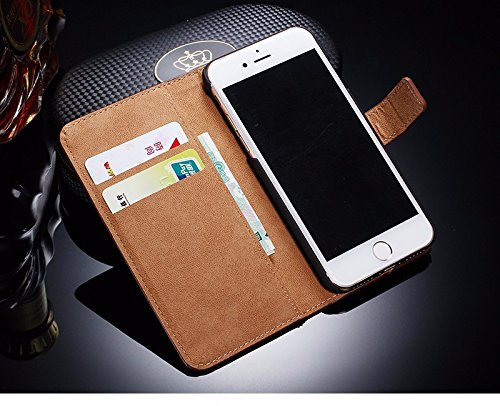 Leather Case For iPhone 7 Wallet Flip Stand With Card Holder TOMKAS