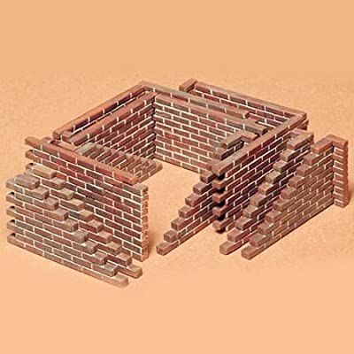 Tamiya America, Inc 1/35 Brick Wall Set, TAM35028: Toys & Games