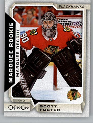 2018-19 OPC O-Pee-Chee Hockey #543 Scott Foster RC Rookie SP Chicago Blackhawks Official 18/19 NHL Trading Card