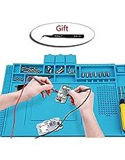 Wohao Lötmatte Silikon 500℃ Hitzebeständige Magnetisch Reparatur Matte Arbeitsmatte soldering mat antistatisch für Lötpistolen, Heißpistolen - groß 45x 30cm