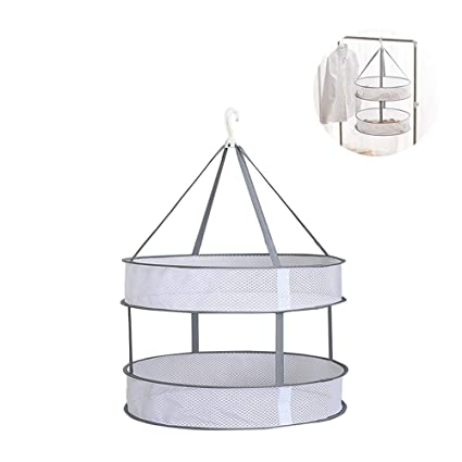 0f3908a10 Amazon.com   Portable Folding Drying Rack Hanging Clothes Laundry ...
