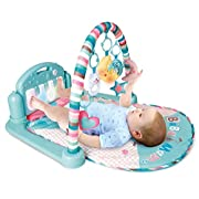 PLS Baby Kick and Play Piano Playmat, (Medium, Colorful) Baby Toys, Battery Included, For 6 to 12 Months Old, Interactive, Activity Toys, Lights and Sounds